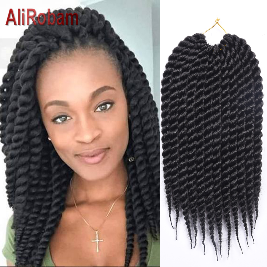 Senegal Twist Crochet Braid Hair Extension Big Curly Braid
