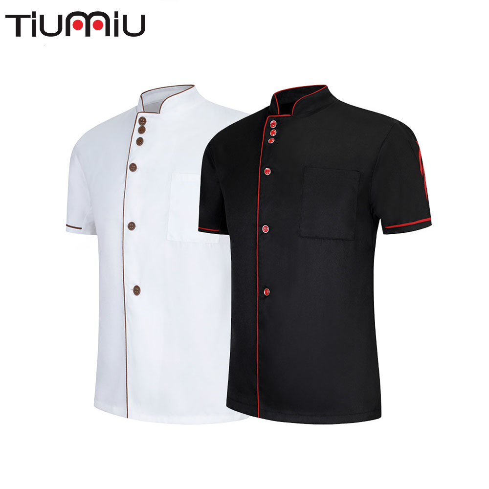 Wholesale Chef Clothes Unisex Restaurant Uniform Kitchen Waiter Waitress Cook Shirt Hotel Barber Dessert Cake Shop Work Overalls