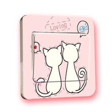 1PCS  DIY Switch Stickers Wall Home Decoration Bedroom Parlor TZ012