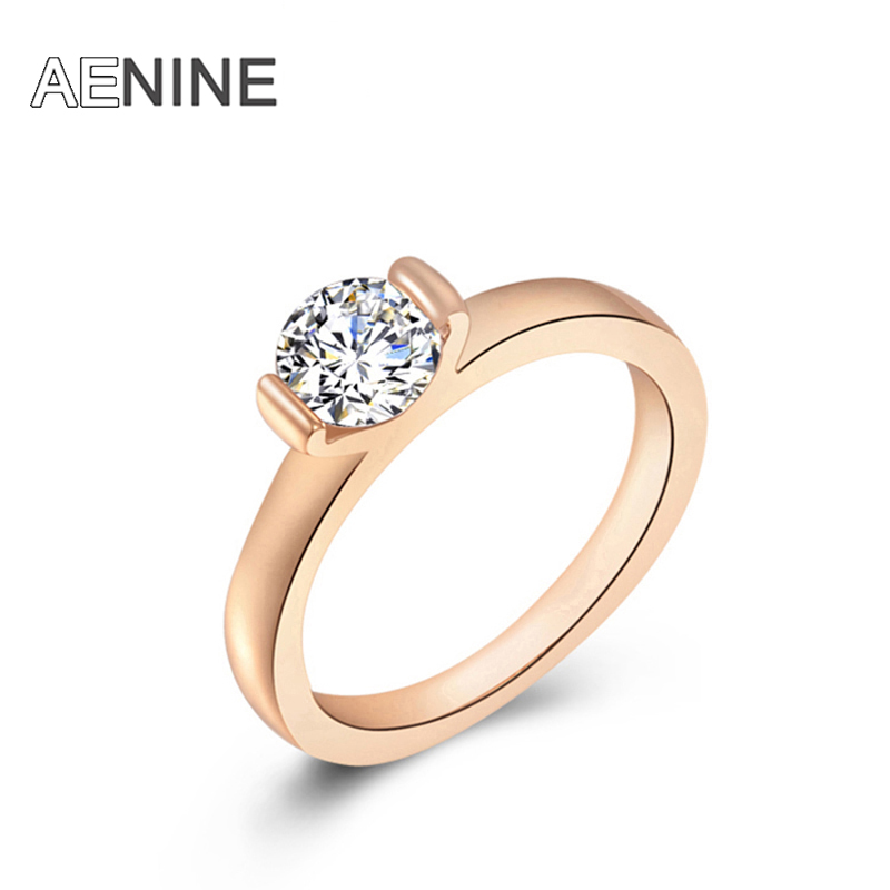 AENINE fashion new arrival genuine Austrian crystal Delicate Ms dinner Gold-color ring Christmas /Birthday gift L2010003185 ...