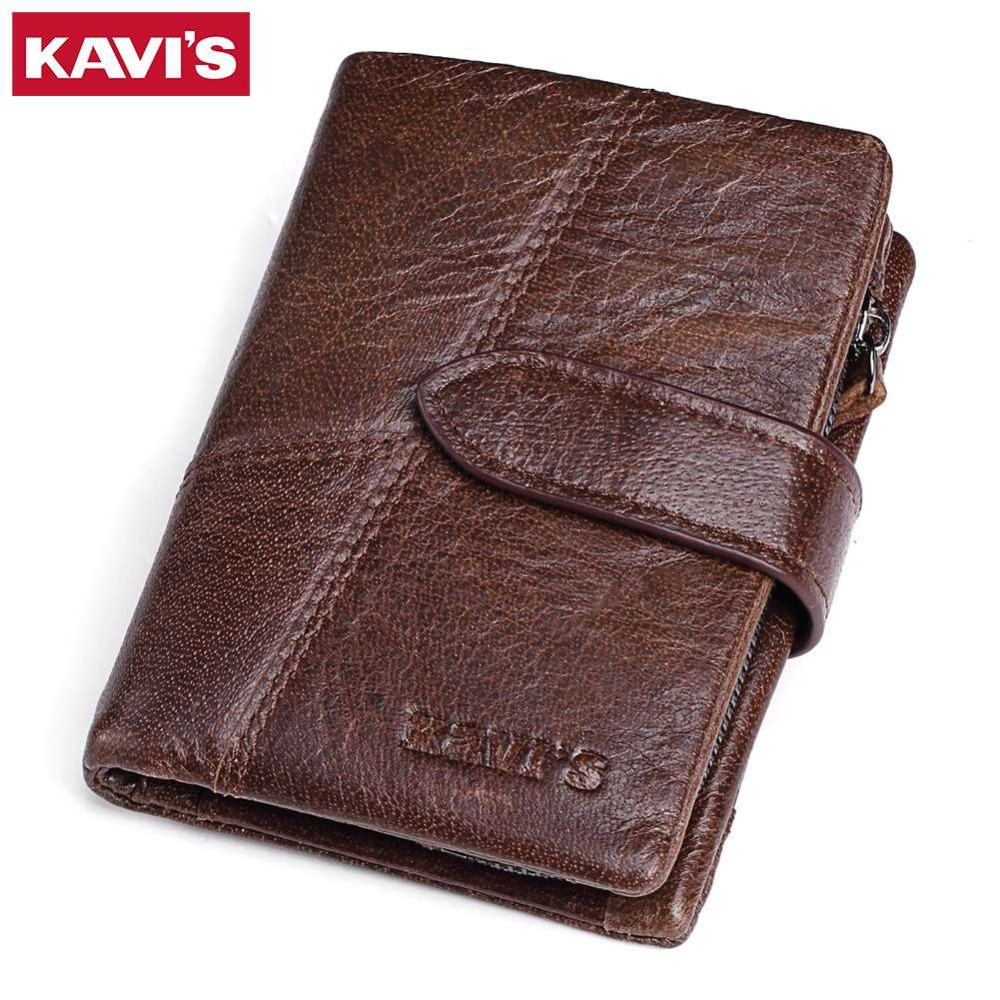 KAVIS Brand Genuine Leather Men Wallets Luxury Credit Cards Coin Purse Male Small Walet Portomonee Rfid Mini PORTFOLIO Perse kavis genuine leather long wallet men coin purse male clutch walet portomonee rfid portfolio fashion money bag handy and perse