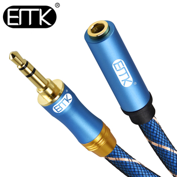 EMK 3.5mm extension cable male to female audio cable 3.5mm aux cable 2m 3m 5m Extender Cord Headphone Cable for iPhone Amplifier