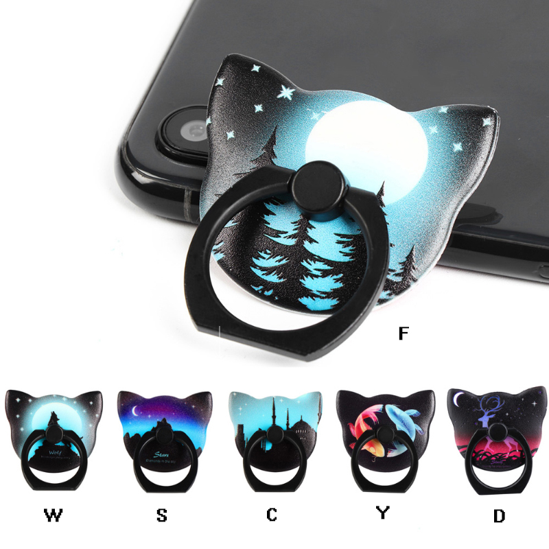 Galleria fotografica 360 Degree Luminous Finger Ring Holder For iPhone 7 plus Samsung HUAWEI Mobile Phone Smartphone Stand