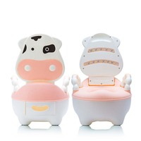 Cowco Cartoon Baby Seat Toilet Potty Seats Portable Toilet Folding Ladder Chair New Brand Easy To
