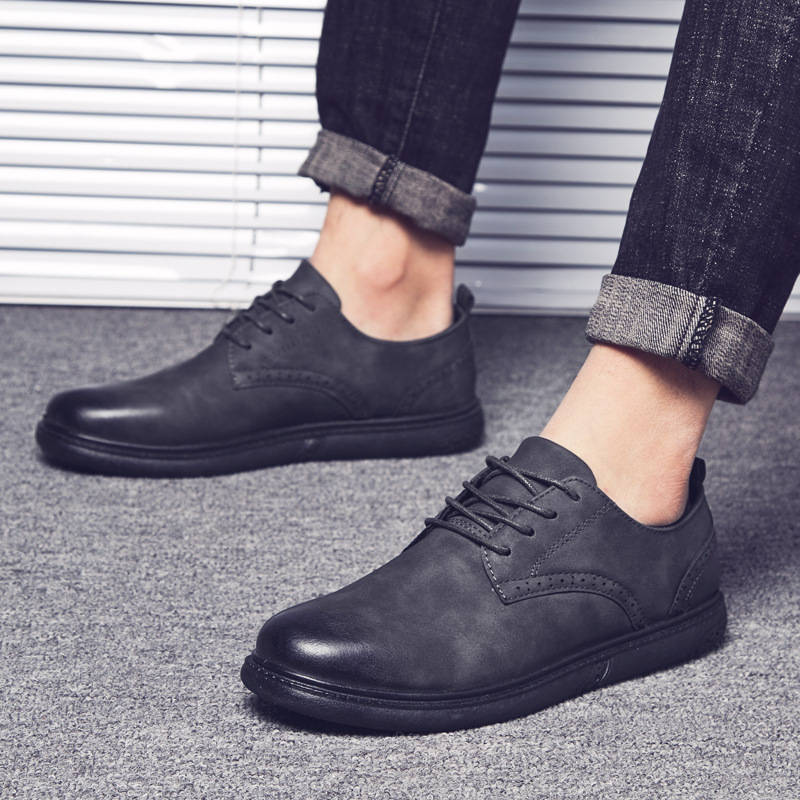 2018 New Mens Oxfords Derby Brogue Shoes Basic Dress Formal Shoes Fashion Leather Europe Luxury Gentry Style Sellers Promotion