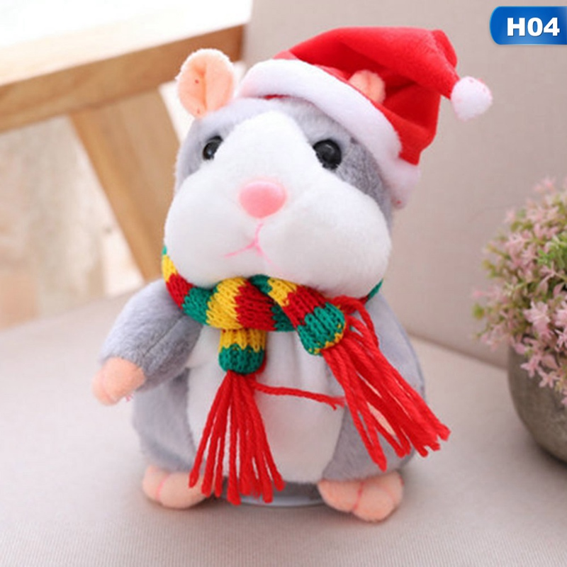 Talking Hamster Mouse Pet Christmas Toy Speak Talking Sound Record Hamster Educational Plush Toy For Children Christmas Gift talking hamster speak talk sound record repeat stuffed plush animal child toy