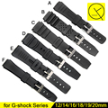 Nature Silicone Rubber Strap Stainless Steel Pin Buckle for Casio Watches G-shock Replace Electronic Wristwatch Band Sport+Tools