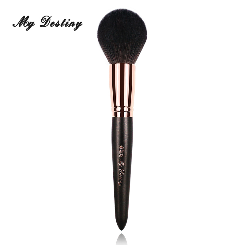 MY DESTINY Goat Hair Large Cone Powder Brush Blush Base Makeup Brushes Make Up Pinceis Pincel Maquiagem Pinceaux Brochas 001 my destiny large ombre color powder brush professional make up makeup brushes pincel pinceis maquiagem maquillaje pinceaux p01