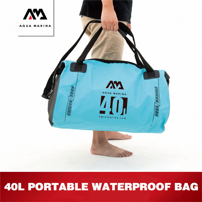 AQUA MARINA 40L Waterproof Bag Hand held Bag Aquatic Sport River Treckking Pack Dry Pack Swimming