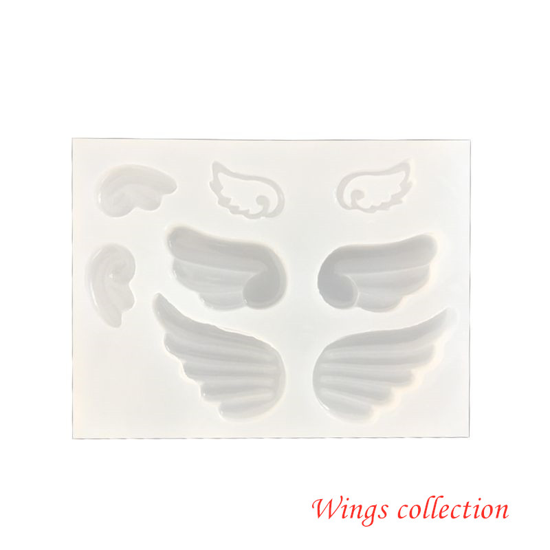 Angel Evil Wings Pendant Resin Casting Mold Silicone Mold Arts Crafts DIY Pendant Accessories Jewelry Making Tool