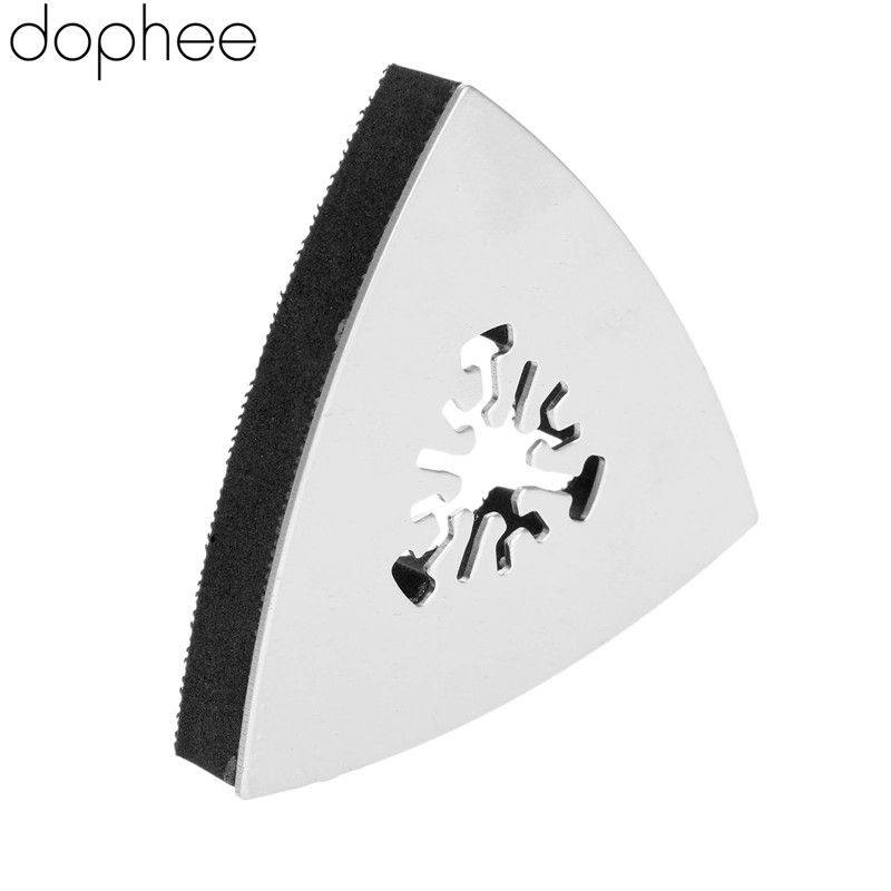 Dophee 80mm Triangular Sanding Pad Oscillating Multi Tools Stainless Steel Rotary Tools For Fein Multi Master Dremel Power Tool