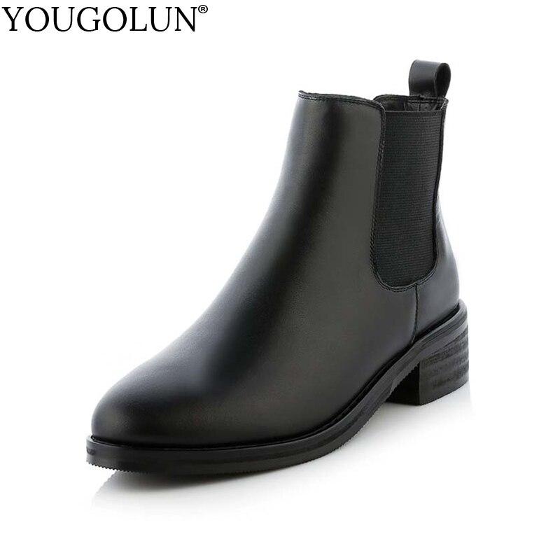 Véritable Plush Cheville Chaussures Cuir 241 Talon Rond Mi Printemps Yougolun Y Cm Noir Pu Femmes Talons Automne En Dames Bout Inside 4 Bottes black Carrés Black Femme wxXfCCSpq