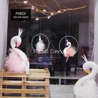 Hot special custom Swan wall hanging decorations gold crown swan wall decoration home shop decoration 1pc/lot