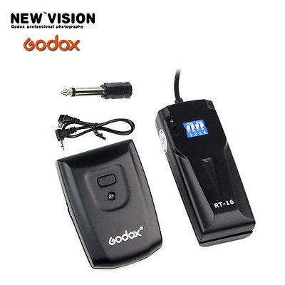 Prix pour GODOX RT-16 faible consommation d'énergie Haute-vitesse synchrone Sans Fil Flash Studio Trigger 16 Canaux pour Canon Nikon DSLR camera