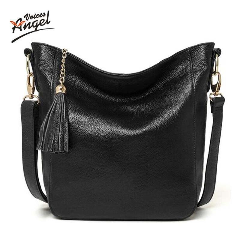 Angel Voices Новое поступление кожаные сумочки модная сумка из натуральной кожи через плечо сумки Брендовые женские сумки-мессенджеры