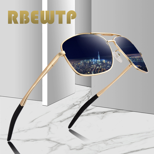 RBEWTP hombres de la vendimia gafas de sol polarizadas de conducción gafas  de visión nocturna gafas bcdd6a938dcb