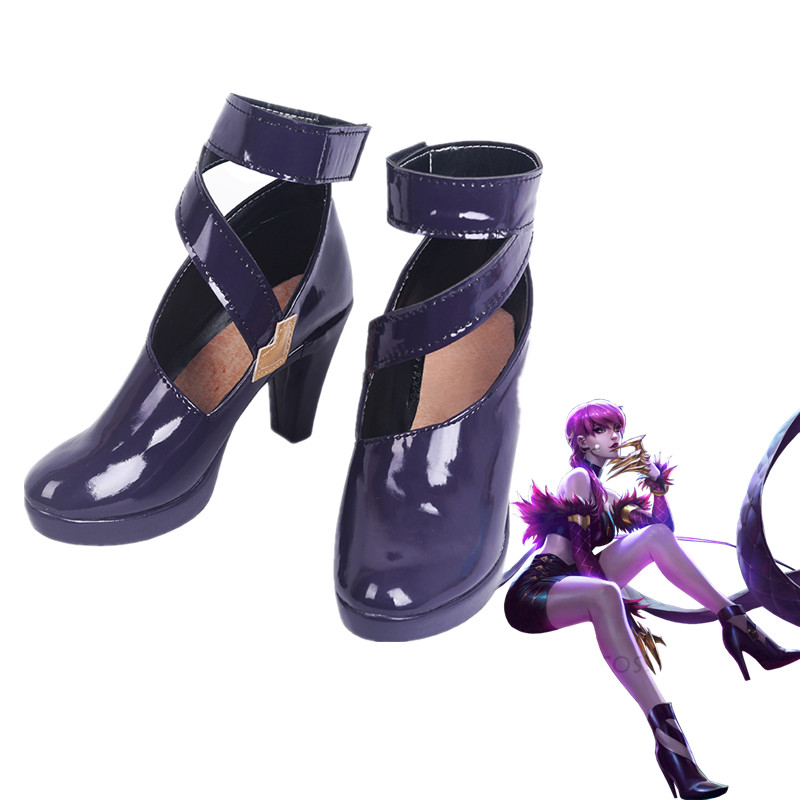 Game LoL Cosplay Shoes Boots KDA Evelynn Cosplay Shoes Halloween Party Cosplay Costumes Daily Leisure Shoes