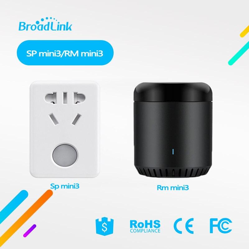 Broadlink RM מיני 3 אוניברסלי אינטליגנטי IR + Wifi מרחוק בקר SP mini3/SC1 חכם שקע מתג עבור Ios אנדרואיד חכם בית