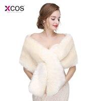 2018 Warm faux fur Stoles Wedding Wrap Winter Wedding Bolero Jacket Bridal Coat Accessories Wedding Cape Coat Six Colors