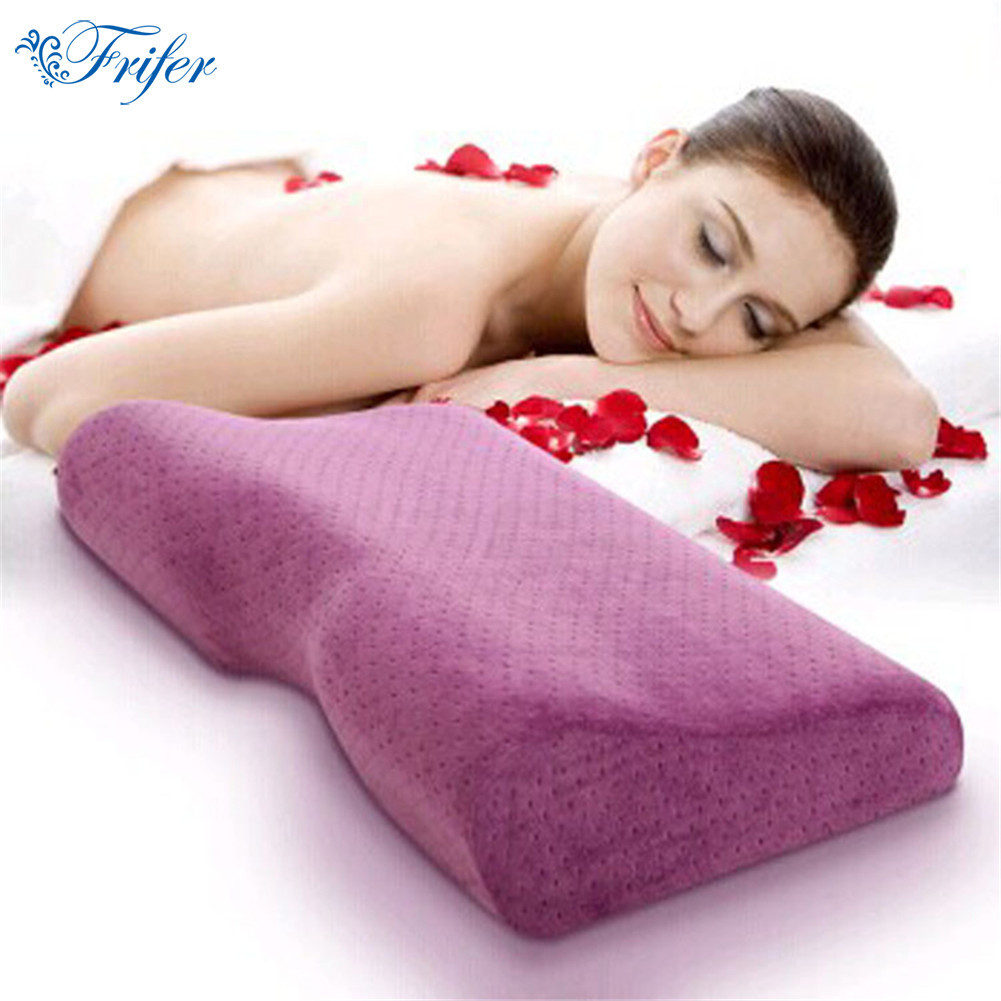 Quality Orthopedic Neck Care Pillow Massager Pillow Slow Rebound Memory Foam Head Cervical Health Sleeping Pillows Travesseiro