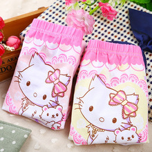 Child Panties Boxers Kids Flower-Girls Briefs Shorts Cotton Cartoon Trunk Cat 6pieces