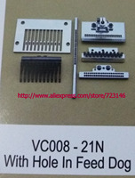 Vc008 21 with hole in feed dog INDUSTRIAL SEWING MACHINE NEEDLE GAUGE SET PLATE FOR CANSAI JUKI SINGER