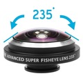 Clip universal de 235 grados cámara de ojo de pez ojo de pez para apple iphone 7 6 plus 5s samsung galaxy 7 edge teléfono móvil lentes