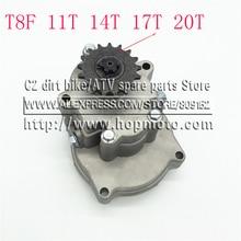 T8F 11 T 14 T 17 T 20 T Zahn Kupplung Trommel Getriebe Kettenrad 33cc 43cc 49cc Ty Stange II Go Kart Mini Moto Dirt Bike Scooter Xtreme