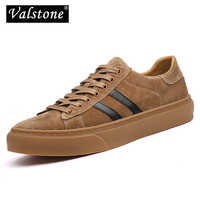 Valstone luxury Men's casual shoes genuine leather Spring soft breathable sneakers natural pig skin Vulcanized shoes non-slip