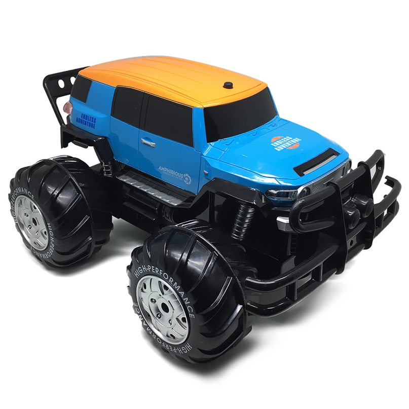 все цены на Dirt Bike Yed 1601 1:10 4WD All-terrain Amphibious Remote Control Off-road Monster Truck 12km/h Speed RC Car Toys for Children