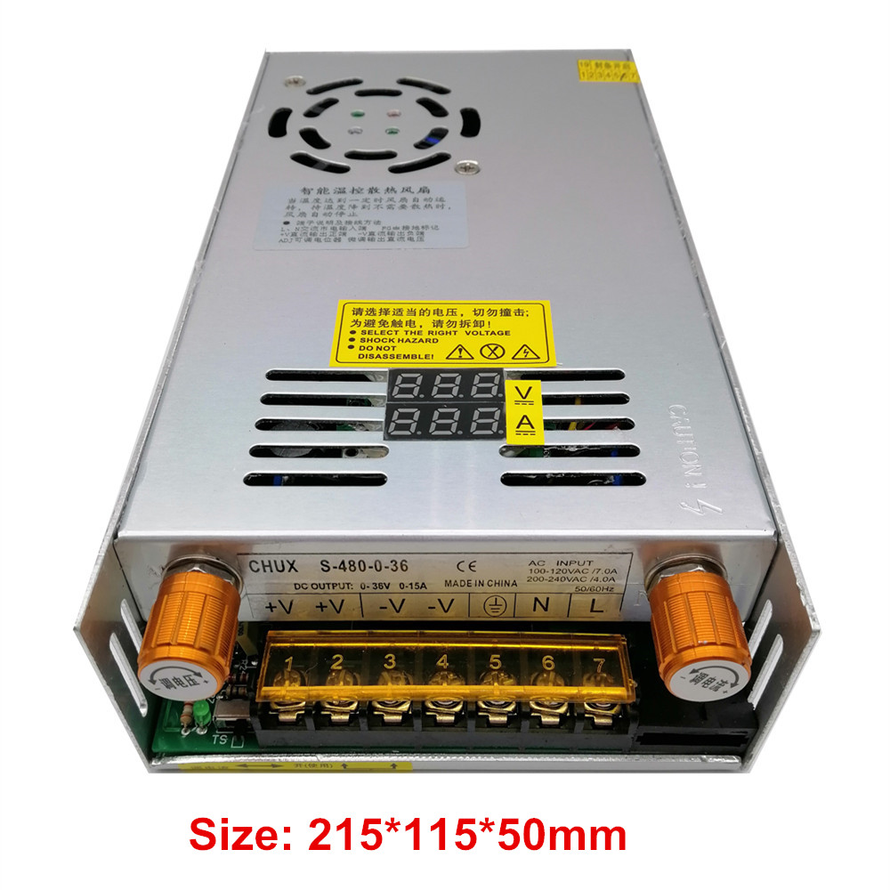 480W Adjustable Switching power supply with Digital display power supply for LED DC 12V 5V 24V 36V 48V 60V 80V 120V 160v 220V-2