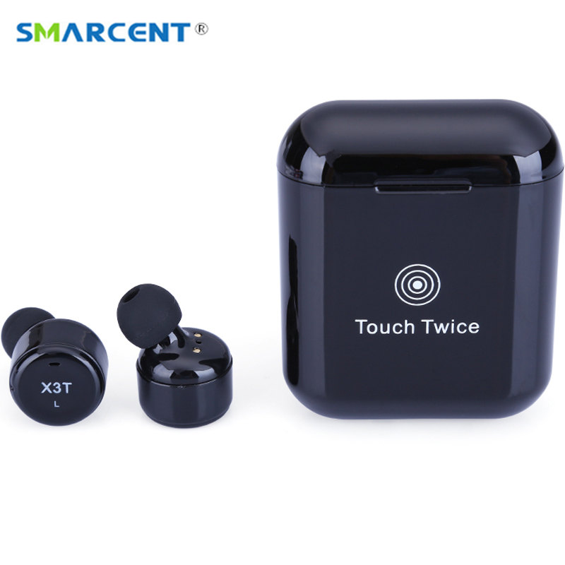 X3T TWS Touch Button Wireless Bluetooth Earphones with Microphone Mini In ear Headsets Charge Box for IOS Android PK X2T X1T