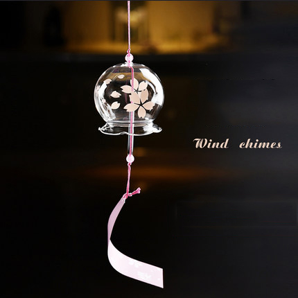 Japanese style and wind hand-painted glass chime ornaments creative home accessories Valentines Day gift