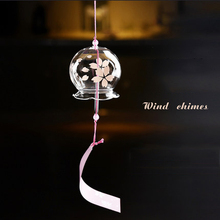 Japanese style and wind hand-painted glass wind chime ornaments creative home accessories Valentine's Day gift цепочка на руку kyoto story japanese style glass beads