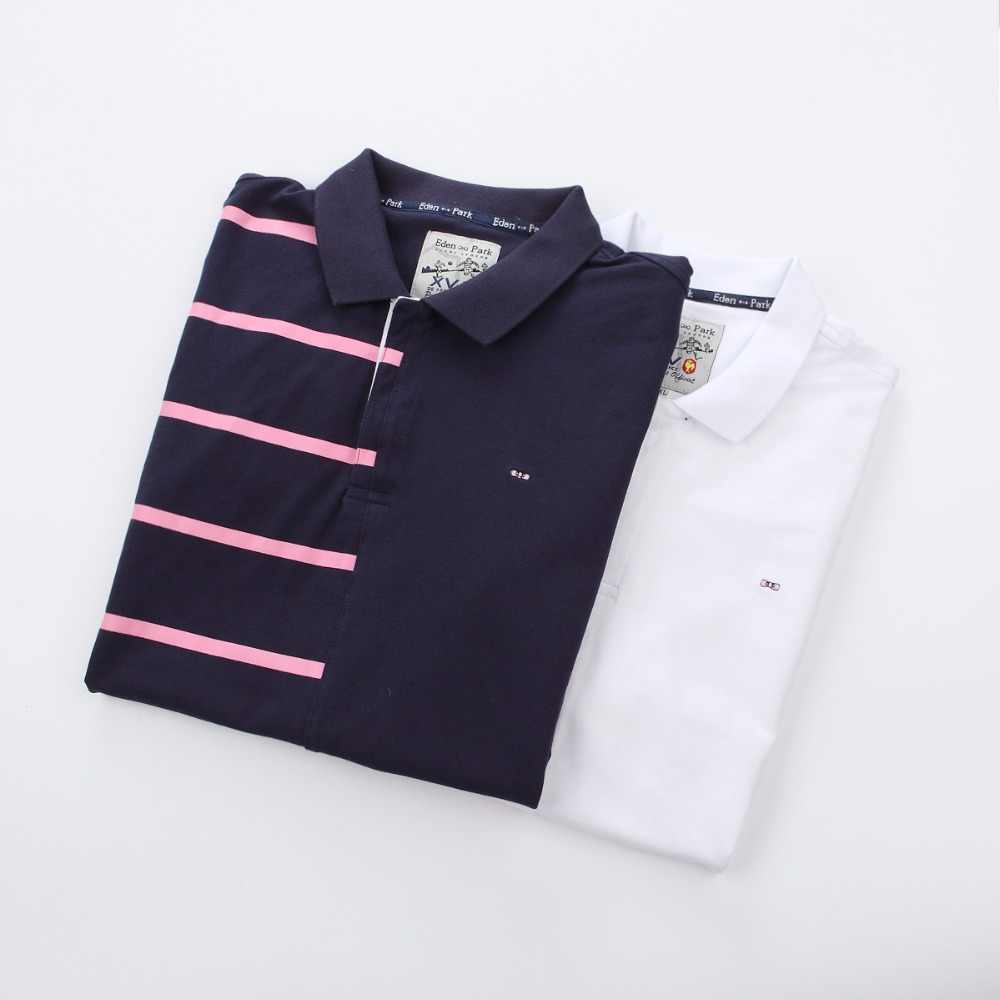 a9d06f63 ... Best selling France brand 2019 Eden Park Summer Man Polo Shirts Cotton  Short Sleeve Polos Trendy ...