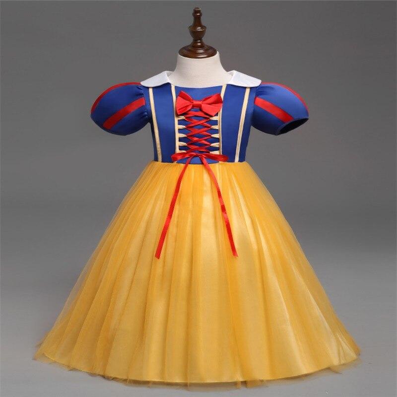 Cosplay Fairy Princess Dress Girl Cinderella Princess Dress Dress Elsa Anna Birthday Party Game Fashion Ice Queen COS Clothing