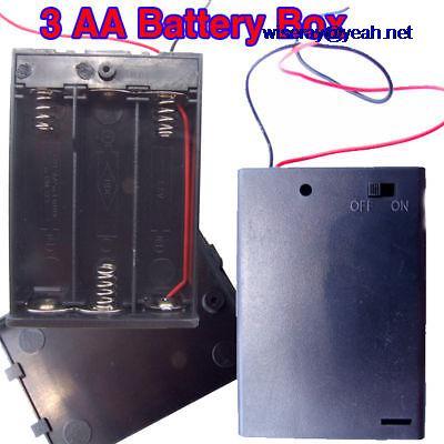 DHL/EMS 100 pcs SUR OFF 4.5 V Batterie Box Commutateur POUR 3 AA Batteries-A8