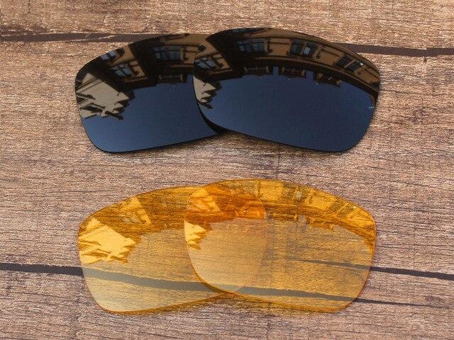 Черный и Желтый Кристалл 2 Пар Замена Линзы Для TwoFace Солнцезащитные Очки Кадров 100% UVA и UVB Защиты