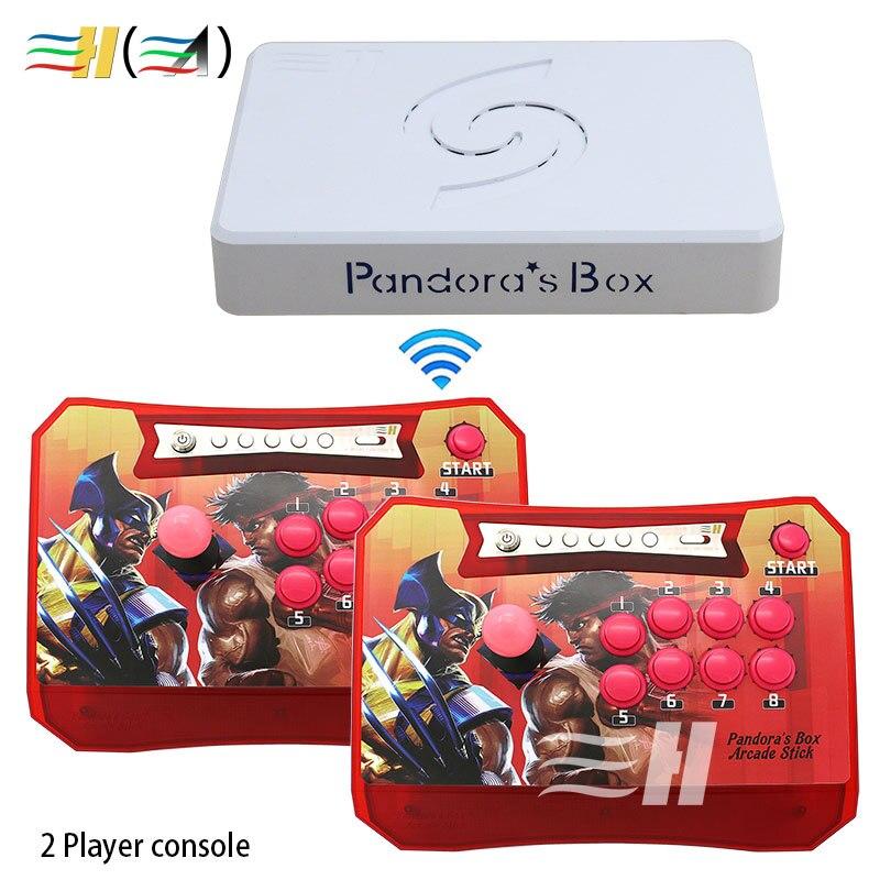 Pandora Box 6 1300 en 1 Console sans fil 2 joueurs jeu de contrôleur de bâton d'arcade HDMI VGA usb à TV pc ps3 support FBA MAME PS1 3d