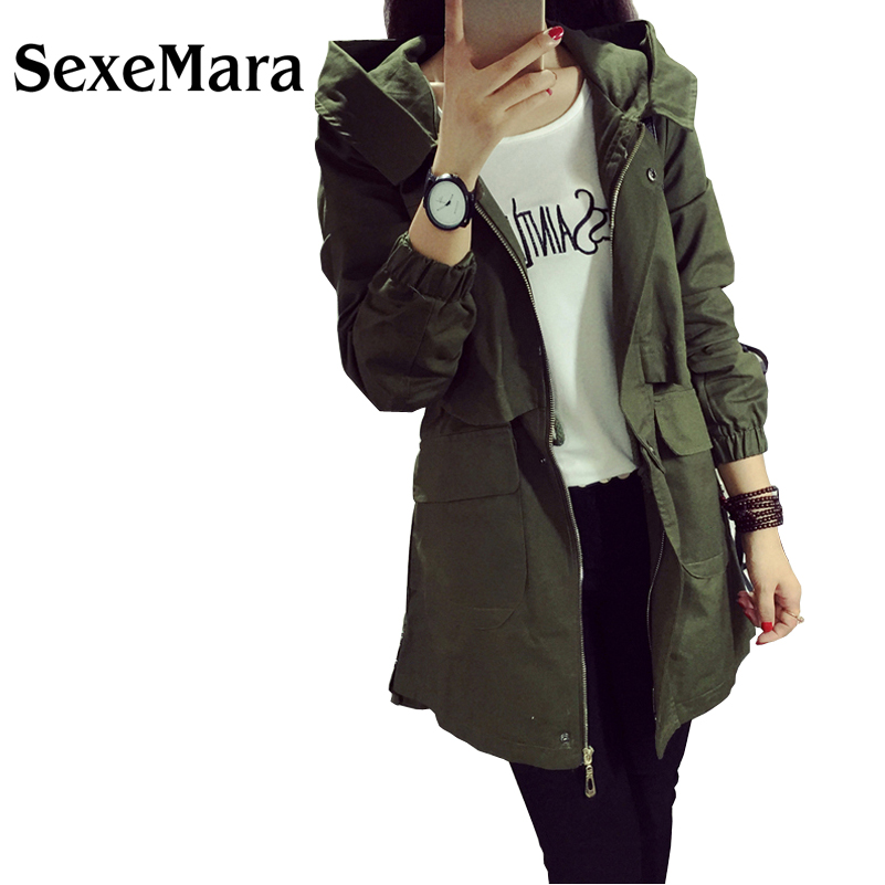 Popular Slim Hooded Black Trench Coat-Buy Cheap Slim Hooded Black ...