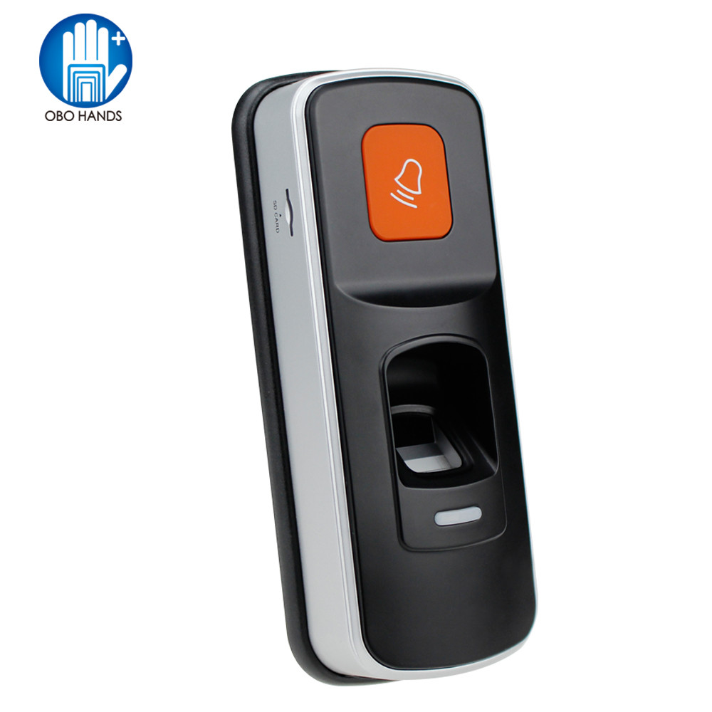 RFID Autonome D'empreintes Digitales Lecteur 125 KHz EM Contrôleur Serrure Avec Sonnette Pour Porte de Contrôle D'accès Système D'entrée Soutien SD Carte