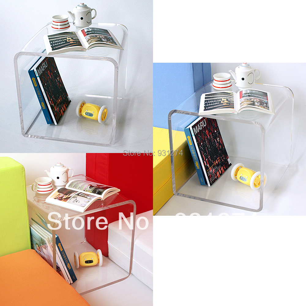 Colored Cubic Acrylic Night Table