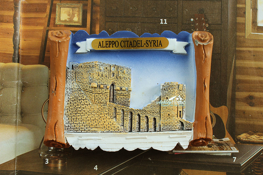 Syria, Aleppo Citadel, Tourist Travel Souvenir 3D Resin Fridge ...
