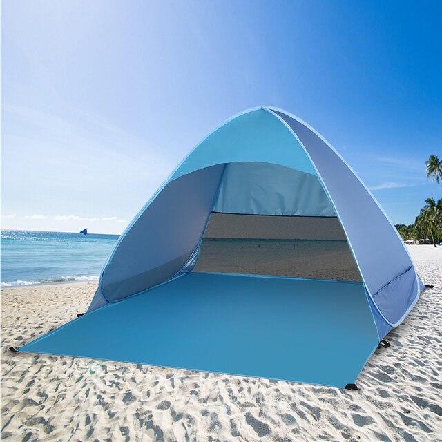 خيمة للشاطئ منبثقة أوتوماتيكيًا من Lixada خفيفة الوزن للحماية من الأشعة فوق البنفسجية للاستخدام الخارجي والتخييم والصيد خيمة كابانا للشمس