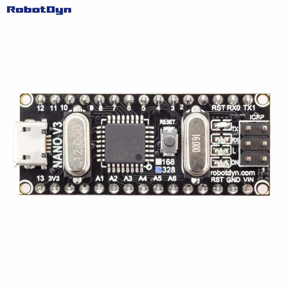 Электронные компоненты и материалы Nano CH340/ATmega328P MicroUSB, . Arduino Nano v3.0