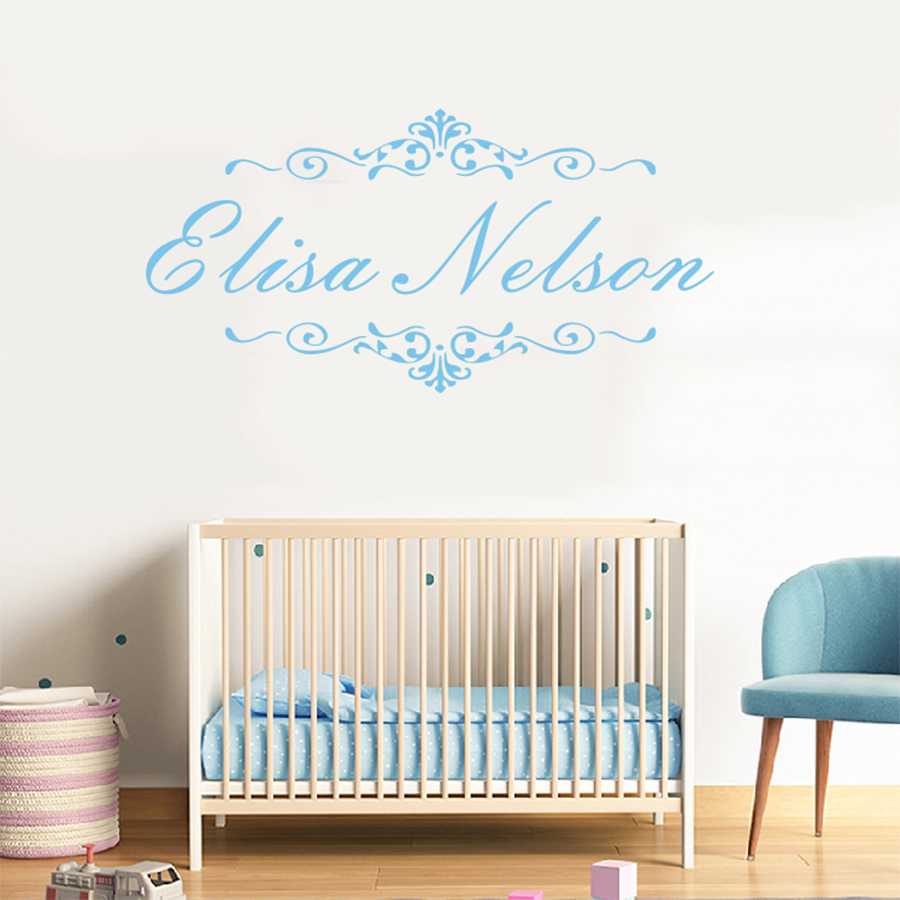 Asapfor Personalized Baby Name Wall Decal Vinyl Sticker
