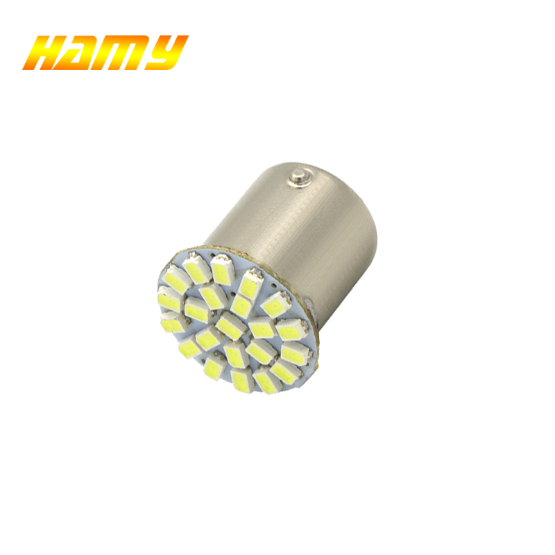 1PCS P21W 1156 BA15S 1157 Bay15d 22SMD Car LED Bulb Auto Rear Turn Signal Lights Brake Reverse Parking Lamp DC 12V White 22 SMD