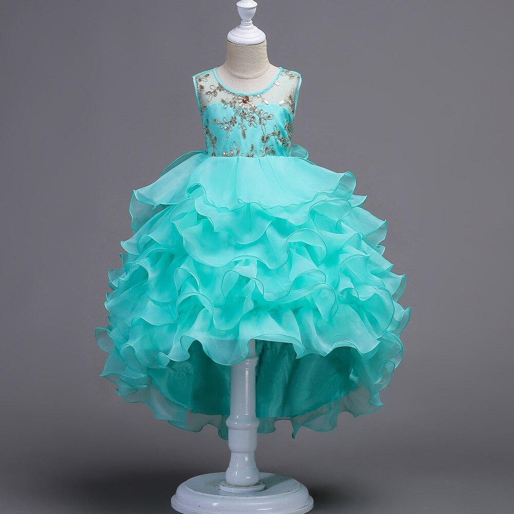 Childrens Dress Pattern Designer Formal Kids Party Evening Gowns for ...