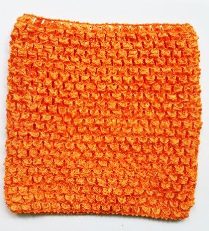 Вязанная крючком юбка-пачка для маленьких девочек, 9 дюймов, топы-трубы, обхват груди, широкая вязаная крючком, топы, юбка-пачка «сделай сам», платье, поставщик - Цвет: Orange Tube Top