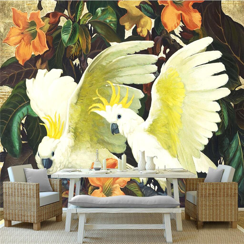 Custom 3d Wallpaper Walls Bird And Branches Photo Wallpaper for Kids Room Study Living Room Bedroom Wall Mural TV Background custom baby wallpaper snow white and the seven dwarfs bedroom for the children s room mural backdrop stereoscopic 3d